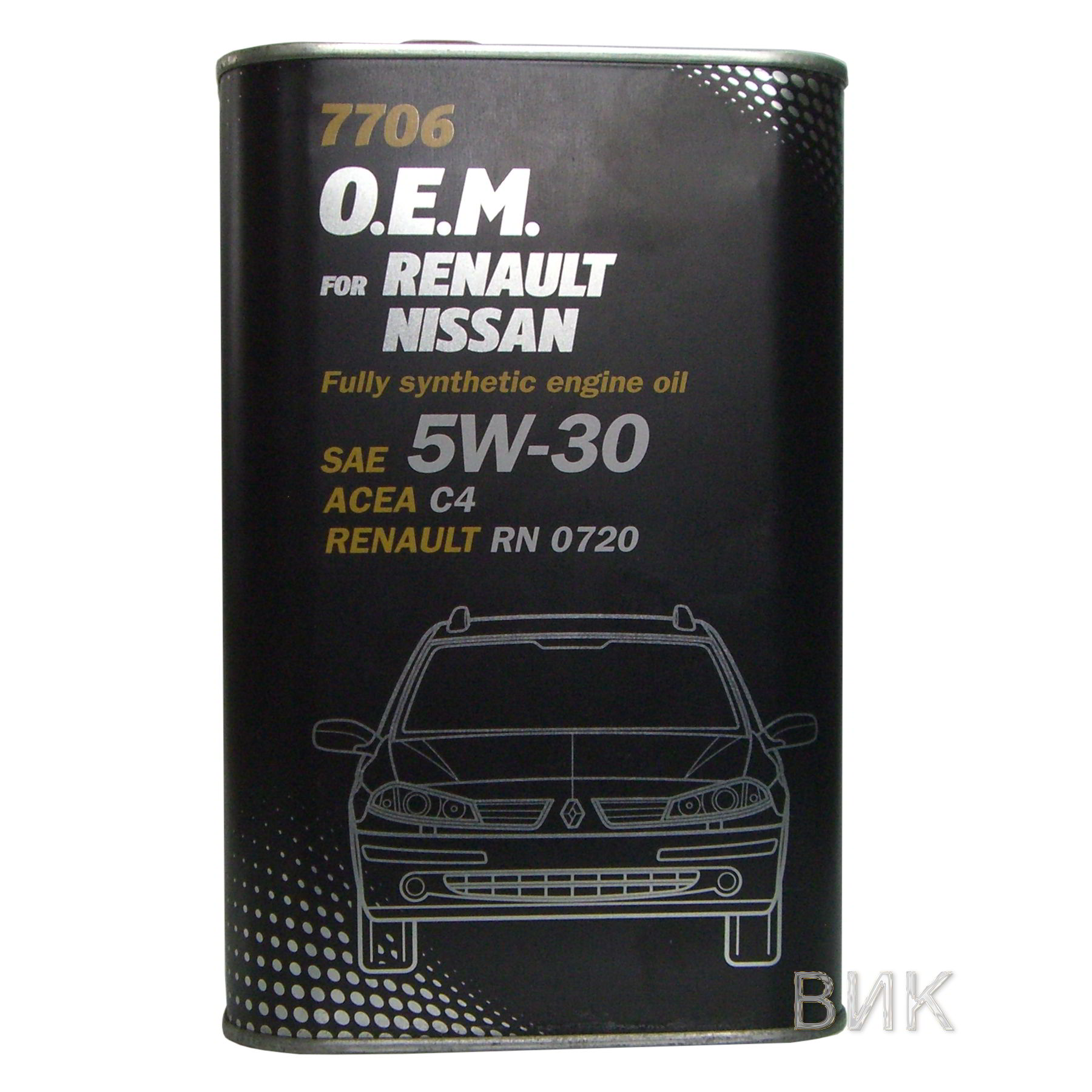 Моторное масло O.E.M. 7706 for Renault Nissan 5W-30 1л metal